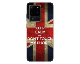 Husa Silicon Soft Upzz Print Samsung Galaxy S20 Ultra Model Keep Calm