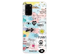 Husa Silicon Soft Upzz Print Samsung Galaxy S20 Plus Model Meow