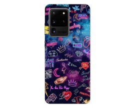 Husa Silicon Soft Upzz Print Samsung Galaxy S20 Ultra Model Neon