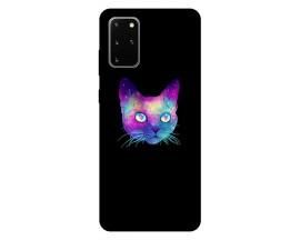 Husa Silicon Soft Upzz Print Samsung Galaxy S20 Plus Model Neon Cat