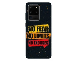 Husa Silicon Soft Upzz Print Samsung Galaxy S20 Ultra Model No Fear