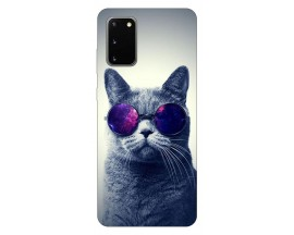 Husa Silicon Soft Upzz Print Samsung Galaxy S20 Model Cool Cat