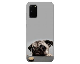 Husa Silicon Soft Upzz Print Samsung Galaxy S20 Model Dog