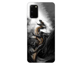 Husa Silicon Soft Upzz Print Samsung Galaxy S20 Model Dragon 1