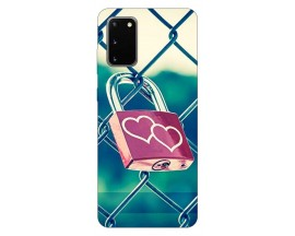 Husa Silicon Soft Upzz Print Samsung Galaxy S20 Model Heart Lock