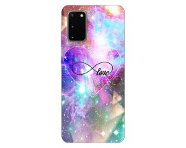 Husa Silicon Soft Upzz Print Samsung Galaxy S20 Model Neon Love