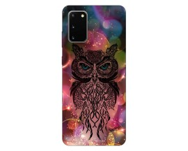 Husa Silicon Soft Upzz Print Samsung Galaxy S20 Model Sparkle Owl