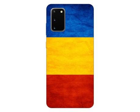 Husa Silicon Soft Upzz Print Samsung Galaxy S20 Model Tricolor