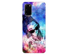 Husa Silicon Soft Upzz Print Samsung Galaxy S20 Model Universe Girl