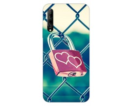 Husa Silicon Soft Upzz Print Huawei P Smart Pro 2019 Model Heart Lock