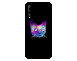 Husa Silicon Soft Upzz Print Huawei P Smart Pro 2019 Model Neon Cat