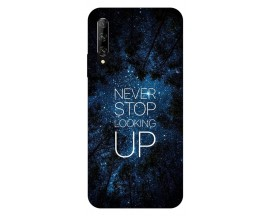 Husa Silicon Soft Upzz Print Huawei P Smart Pro 2019 Model Never Stop