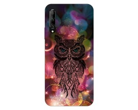 Husa Silicon Soft Upzz Print Huawei P Smart Pro 2019 Model Sparkle Owl