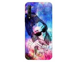 Husa Silicon Soft Upzz Print Huawei P Smart Pro 2019 Model Universe Girl