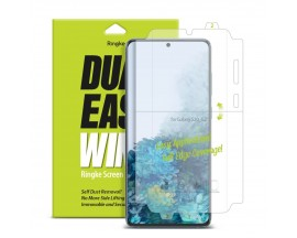 Folie Premium Full Cover Ringke Dual Easy Samsung Galaxy S20 Ultra Transparenta -2 Bucati In Pachet