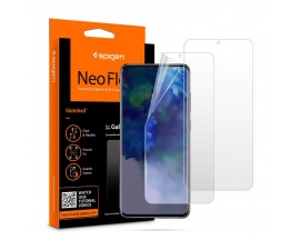 Folie Silicon Premium Neo Flex Spigen Samsung Galaxy 20+ Plus Transparenta Case Friendly 2 Bucati In Pachet