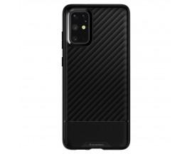 Husa Premium Originala Spigen Core Armor Samsung Galaxy S20+ Plus, Negru Silicon