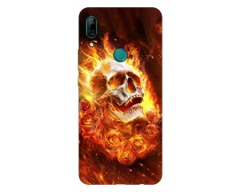 Husa Silicon Soft Upzz Print Huawei P Smart Z Model Flame Skull