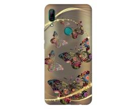 Husa Silicon Soft Upzz Print Huawei P Smart Z Model Golden Butterfly