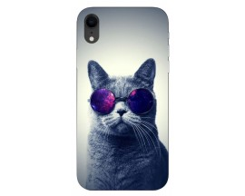 Husa Silicon Soft Upzz Print iPhone Xr Model Cool Cat