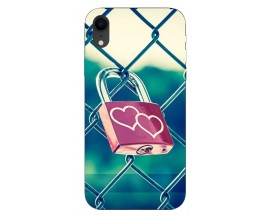 Husa Silicon Soft Upzz Print iPhone Xr Model Heart Lock