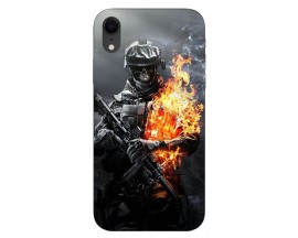 Husa Silicon Soft Upzz Print iPhone Xr Model Soldier