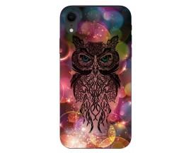 Husa Silicon Soft Upzz Print iPhone Xr Model Sparkle Owl