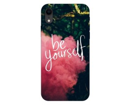 Husa Silicon Soft Upzz Print iPhone Xr Model Be Yourself