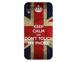 Husa Silicon Soft Upzz Print iPhone Xr Model Keep Calm