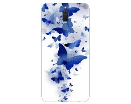 Husa Silicon Soft Upzz Print Huawei Mate 10 Lite Model Blue Butterflies