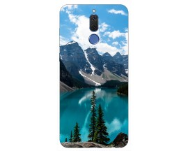 Husa Silicon Soft Upzz Print Huawei Mate 10 Lite Model Blue