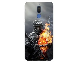 Husa Silicon Soft Upzz Print Huawei Mate 10 Lite Model Soldier