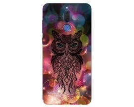 Husa Silicon Soft Upzz Print Huawei Mate 10 Lite Model Sparkle Owl