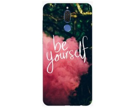 Husa Silicon Soft Upzz Print Huawei Mate 10 Lite Model Be Yourself