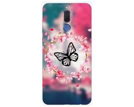 Husa Silicon Soft Upzz Print Huawei Mate 10 Lite Model Butterfly