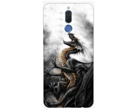 Husa Silicon Soft Upzz Print Huawei Mate 10 Lite Model Dragon 1