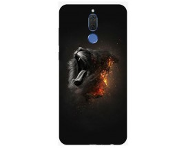 Husa Silicon Soft Upzz Print Huawei Mate 10 Lite Model Lion