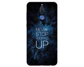 Husa Silicon Soft Upzz Print Huawei Mate 10 Lite Model Never Stop