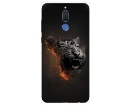 Husa Silicon Soft Upzz Print Huawei Mate 10 Lite Model Tiger