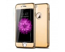 Husa Iphone 7 Plus JOYROOM 360 Gold + folie de sticla inclusa