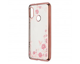Husa Spate Forcell Bling Diamond Samsung Galaxy M30 Rose Gold