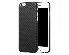 Husa Spate Premium X-Level Carbon Iphone 6S Plus sau iPhone 6S Negru