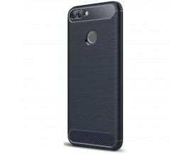 Husa Spate Forcell Carbon Pro Huawei P Smart Albastru Silicon