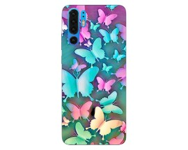 Husa Silicon Soft Upzz Print Huawei P30 Pro Model Colorfull Butterflies