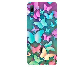 Husa Silicon Soft Upzz Print Huawei P Smart 2019 Model Colorfull Butterflies