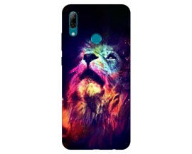 Husa Silicon Soft Upzz Print Huawei P Smart 2019 Model Neon Lion