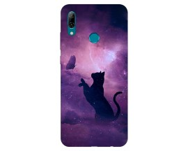Husa Silicon Soft Upzz Print Huawei P Smart 2019 Model Shadow Cat