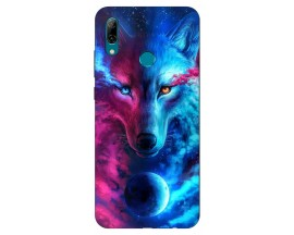 Husa Silicon Soft Upzz Print Huawei P Smart 2019 Model Wolf