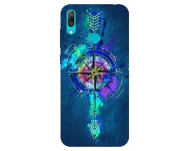 Husa Silicon Soft Upzz Print Huawei Y7 2019 Model Colorfull Butterfly