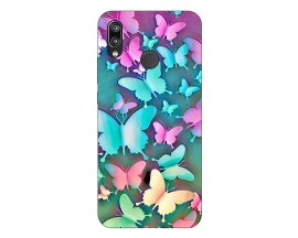 Husa Silicon Soft Upzz Print Huawei P Smart Pro 2019 Model Colorfull Butterflies